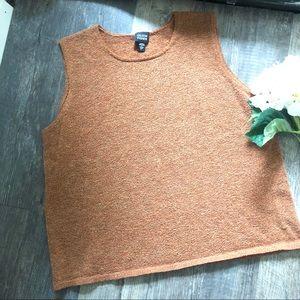 Eileen Fisher | Burnt Orange Knit Shell